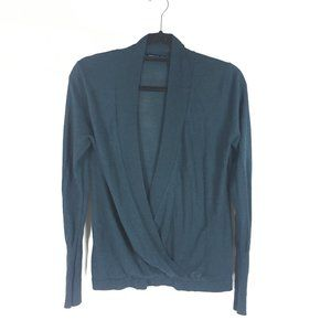 Zara Suplice Wrap Lightweight Sweater V Neck